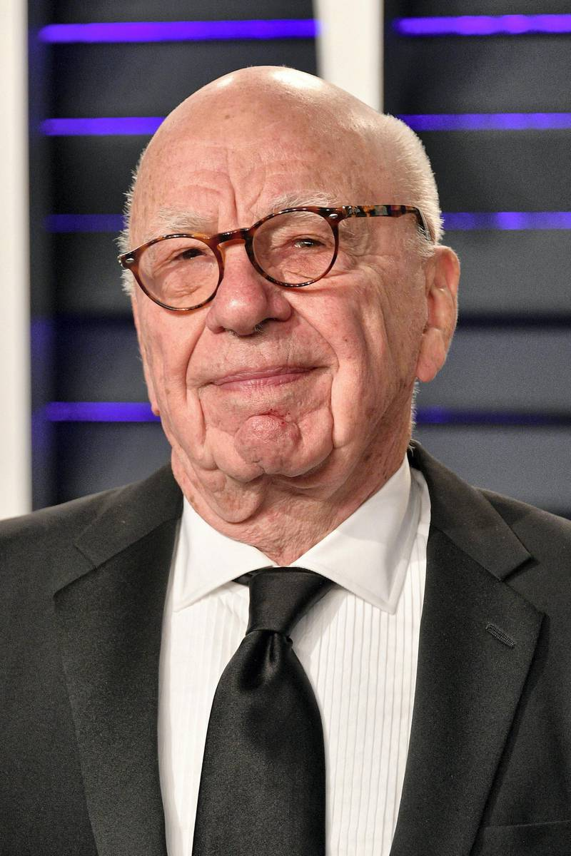 BEVERLY HILLS, CA - FEBRUARY 24: Rupert Murdoch attends the 2019 Vanity Fair Oscar Party hosted by Radhika Jones at Wallis Annenberg Center for the Performing Arts on February 24, 2019 in Beverly Hills, California.   Dia Dipasupil/Getty Images/AFP (Photo by Dia Dipasupil / GETTY IMAGES NORTH AMERICA / Getty Images via AFP)