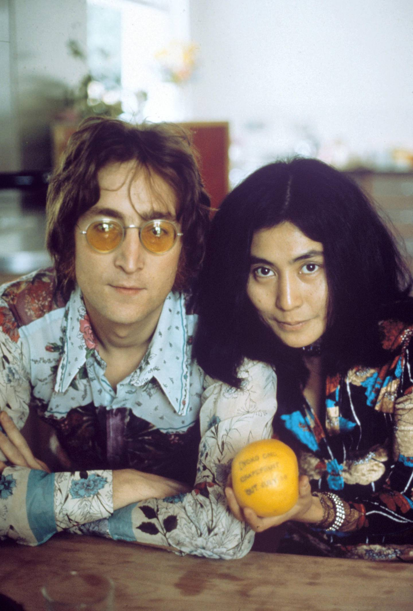 Mandatory Credit: Photo by George Konig/REX/Shutterstock (104803e) JOHN LENNON AND YOKO ONO AT TITTENHURST PARK, THEIR RESIDENCE BETWEEN 11/08/69 AND 30/08/71 IN SUNNINGDALE, NR ASCOT BERKSHIRE John Lennon and Yoko Ono at their home at Tittenhurst Park, Britain - 1970