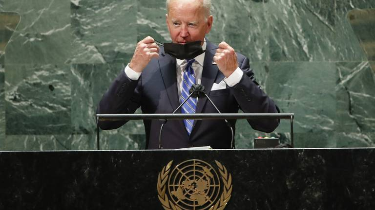 An image that illustrates this article Biden shies away from controversy in UN address while signalling changed US priorities
