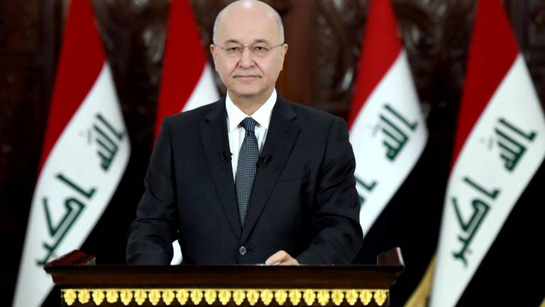 An image that illustrates this article Iraq's president says Syria policy has failed
