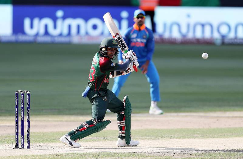 DUBAI , UNITED ARAB EMIRATES, September 28 , 2018 :- Mehidy Hasan of Bangladesh playing a shot during the final of Unimoni Asia Cup UAE 2018 cricket match between Bangladesh vs India held at Dubai International Cricket Stadium in Dubai. ( Pawan Singh / The National )  For News/Sports/Instagram/Big Picture. Story by Paul