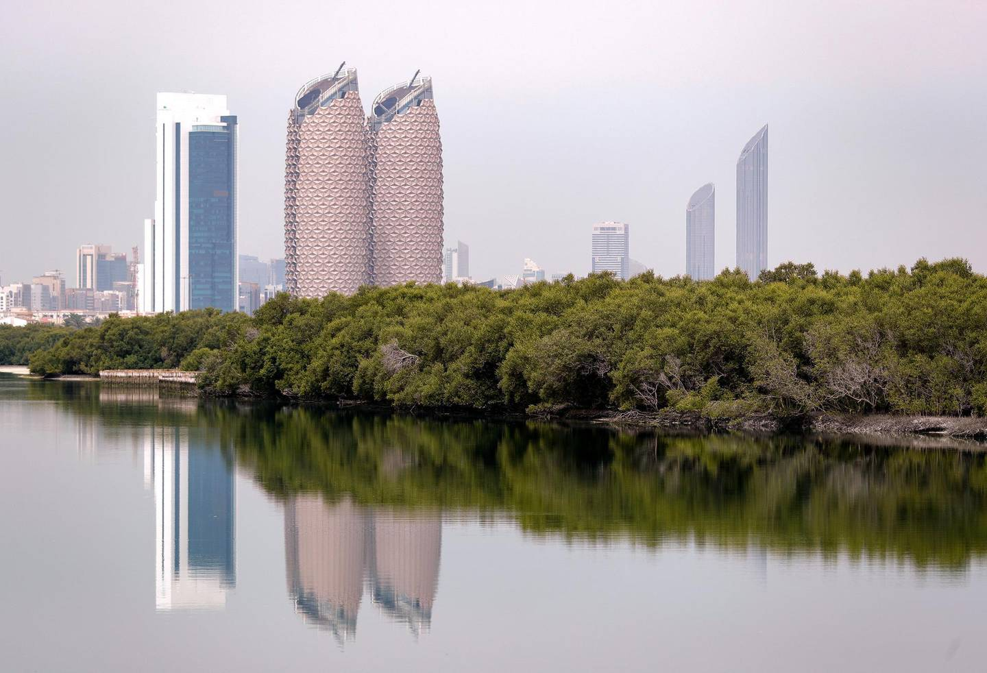 Abu Dhabi, United Arab Emirates, March 16, 2021.  Hazy and overcast weather at Abu Dhabi.  Eastern Mangroves area.Victor Besa/The NationalSection:  NAFOR:  Stand Alone/ Big Picture