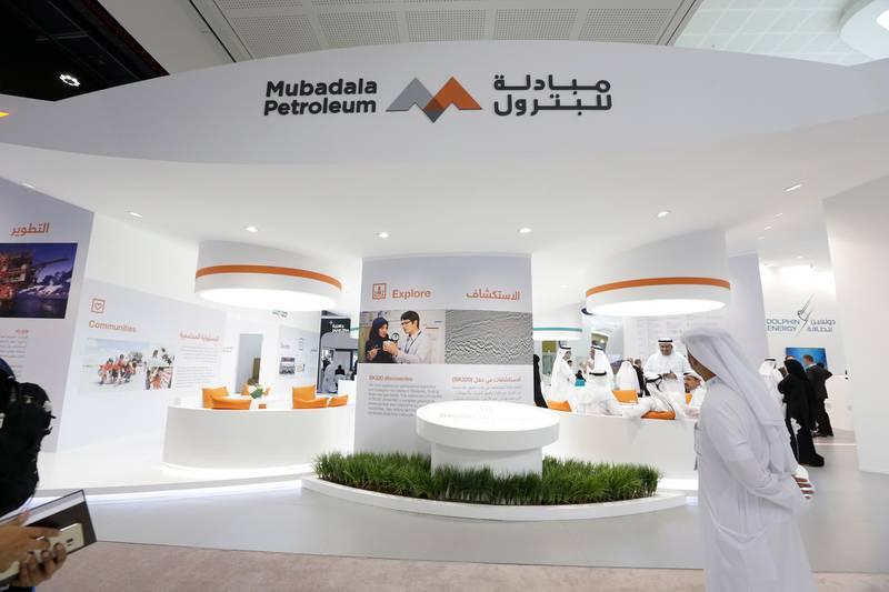 Abu Dhabi, United Arab Emirates - November 7, 2016.  MUBADALA Petroleum stand, for the Abu Dhabi International Petroleum Exhibition & Conference ( ADIPEC ).  ( Jeffrey E Biteng / The National )  Editor's Note;  ID 42771 *** Local Caption ***  JB071116-Adipec20.jpg