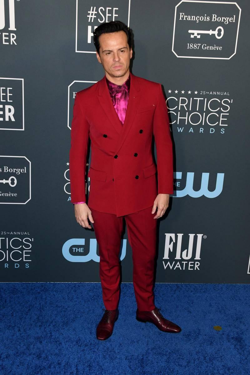 epa08123878 Irish actor Andrew Scott attends the 25th Critics' Choice Awards in Santa Monica, California, USA, 12 January 2020.  EPA-EFE/CHRISTIAN MONTERROSA