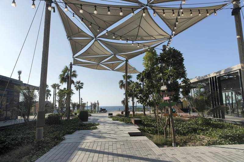 Dubai, United Arab Emirates, October 15, 2017:    General view of La Mer, the new development by Meraas, which opened today in the Jumeirah 1 area of Dubai on October 15, 2017. Christopher Pike / The NationalReporter: Nick WebsterSection: News