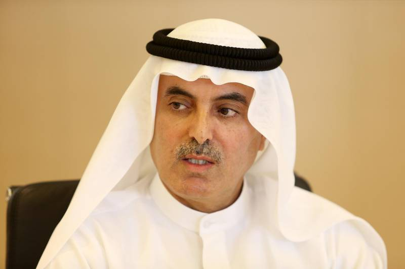 DUBAI , UNITED ARAB EMIRATES – July 7 , 2015 : Abdul Aziz Al Ghurair , Chairman of UBF and Mashreq CEO talking to media during the press conference at the Mashreq head office in Deira in Dubai. ( Pawan Singh / The National ) For Business. Story by Frank Kane *** Local Caption ***  PS0707- GHURAIR02.jpg