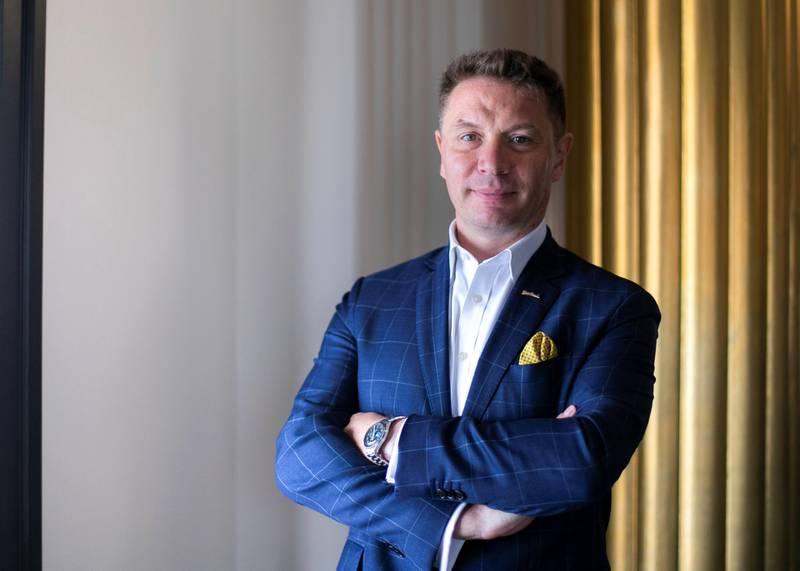 DUBAI, UNITED ARAB EMIRATES. 20 DECEMBER 2020. Niccolo Rossi,  Executive Assistant Manager,  Radisson Blu Hotel, Dubai Deira Creek.(Photo: Reem Mohammed/The National)Reporter: Patrick RyanSection: