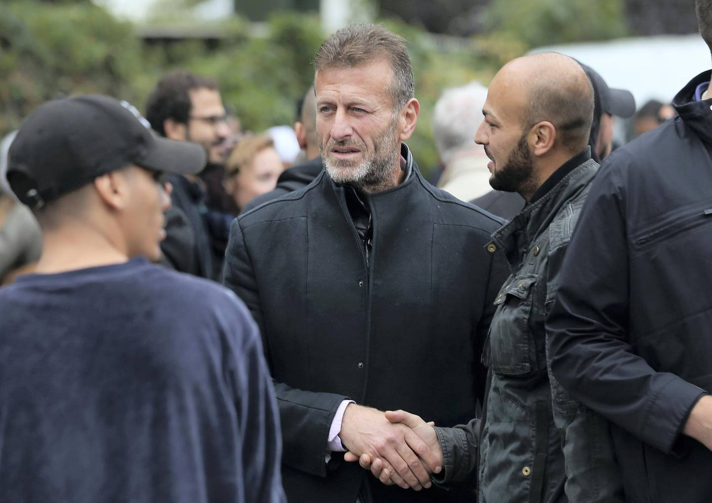 BERLIN, GERMANY - SEPTEMBER 13:  Issa Remmo, head of the Lebanese Arab Remmo family that was investigated by police for money laundering, departs after attending the funeral of Nidal R. at the New 12 Apostles cemetery on September 13, 2018 in Berlin, Germany. Nidal R., 36, a multiple felon, was gunned down by assailants who managed to flee the scene at a public park last Sunday. Berlin has a number of Arab, Kurdish and Turkish clans deeply organized in organized crime.  (Photo by Sean Gallup/Getty Images)