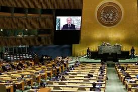 President of Lebanon implores the UNGA for immediate assistance