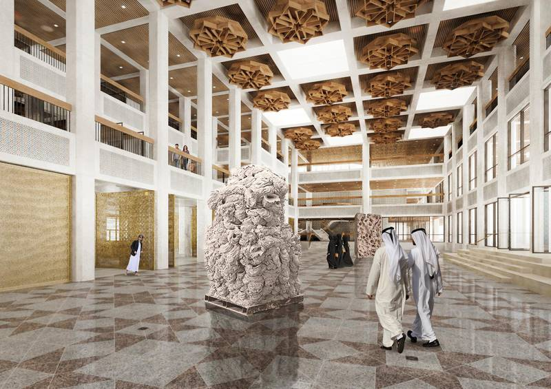 An artist rendering of Qasr Al Hosn fort and surrounding area. ( Provided by the Abu Dhabi Tourism and Culture Authority ) *** Local Caption ***  on07mr-qasr-07.jpg