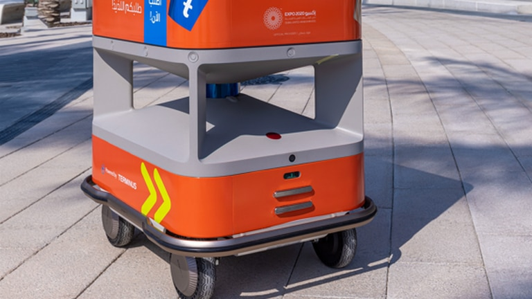 An image that illustrates this article Driverless delivery could transform the Gulf