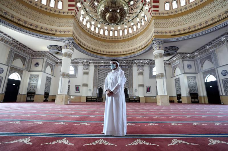 Dubai, United Arab Emirates - December 03, 2020: Dr Faris the imam at Al Farooq Omar Bin Al Khattab Mosque. Thursday, December 3rd, 2020 in Dubai. Chris Whiteoak / The National