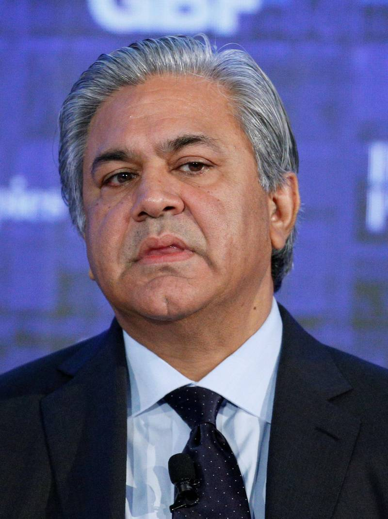 FILE PHOTO: Arif Naqvi, Founder and CEO, The Abraaj Group, speaks at the Bloomberg Global Business Forum in New York, U.S., September 20, 2017. REUTERS/Brendan McDermid/File Photo