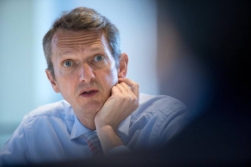Andy Haldane, chief economist of the Bank of England, speaks during an interview in London, U.K., on Tuesday, May 14, 2019. Haldane has a reputation for views that go against groupthink, despite spending more than a quarter century at Threadneedle Street. Photographer: Jason Alden/Bloomberg via Getty Images