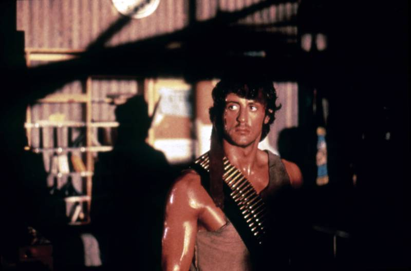 American actor and screenwriter Sylvester Stallone on the set of Rambo: First Blood based on the novel by Canadian David Morrell and directed by Ted Kotcheff. (Photo by Sunset Boulevard/Corbis via Getty Images)