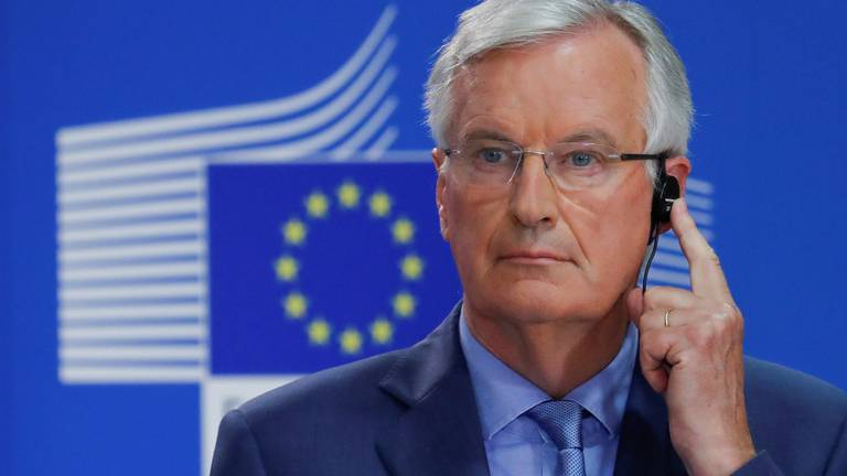 An image that illustrates this article Michel Barnier says UK's supply chain crisis is a 'direct consequence of Brexit'