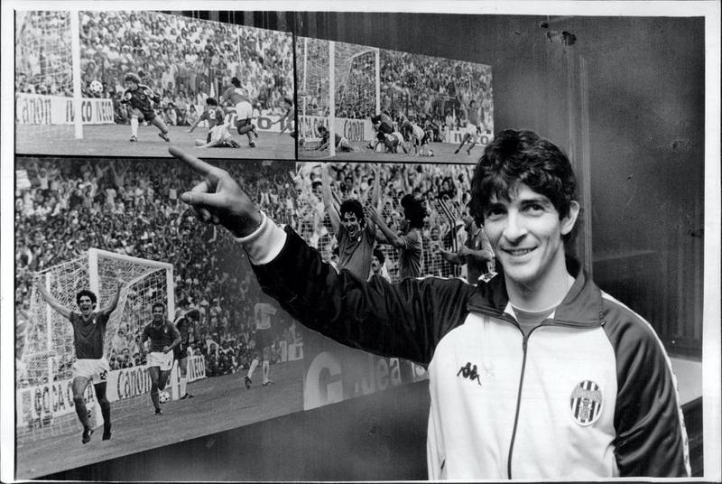 Paolo Rossi, the Italian World Cup goal-soccer in Australia with Juventus, with pictures by Herald photographer Anton Cermak. June 4, 1984. (Photo by Antonin Cermak/Fairfax Media via Getty Images).