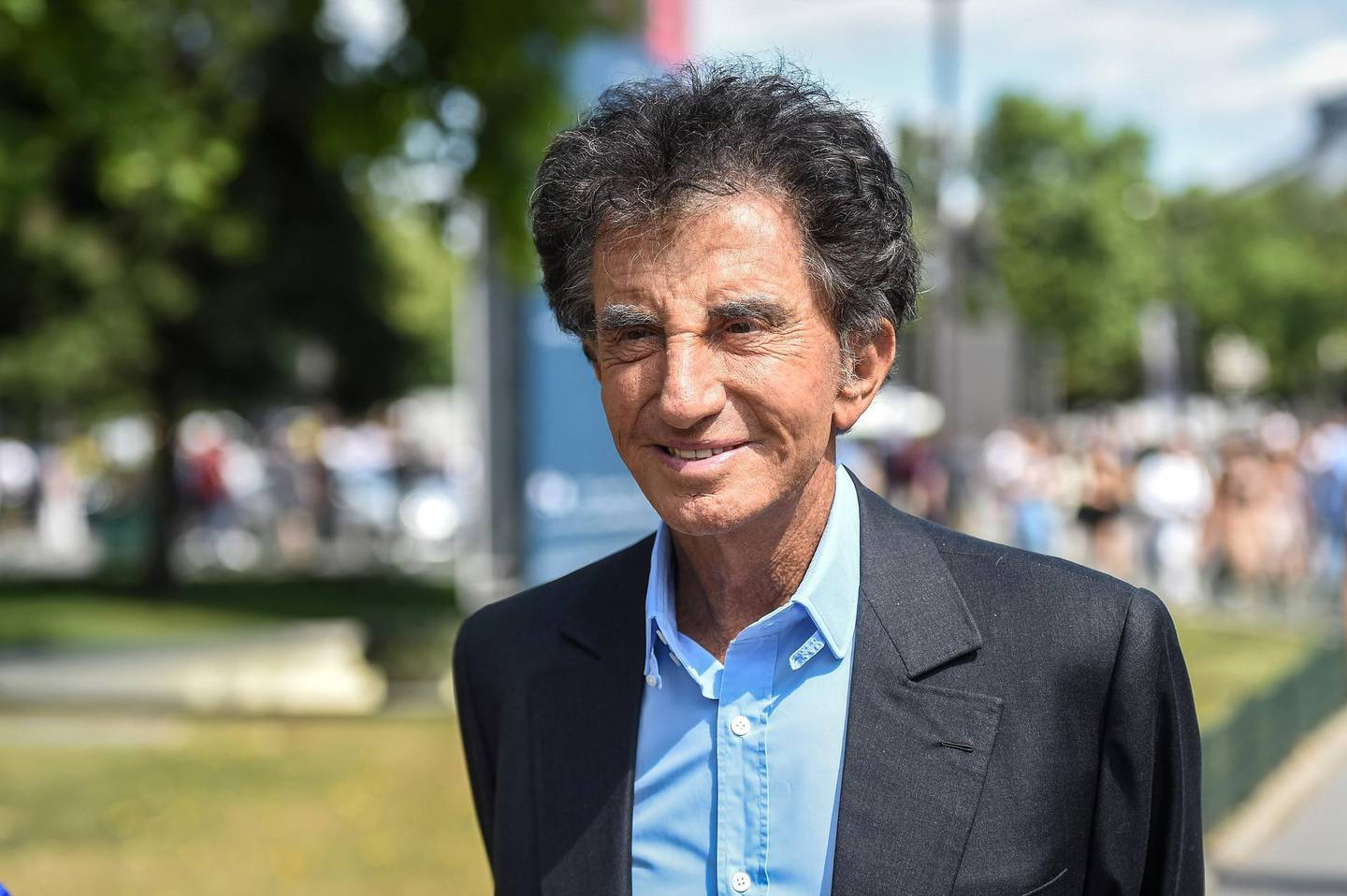 President of the Arab World Institute (IMA) Jack Lang arrives for the Chanel Women's Fall-Winter 2019/2020 Haute Couture collection fashion show at the Grand Palais in Paris, on July 2, 2019. (Photo by LUCAS BARIOULET / AFP)