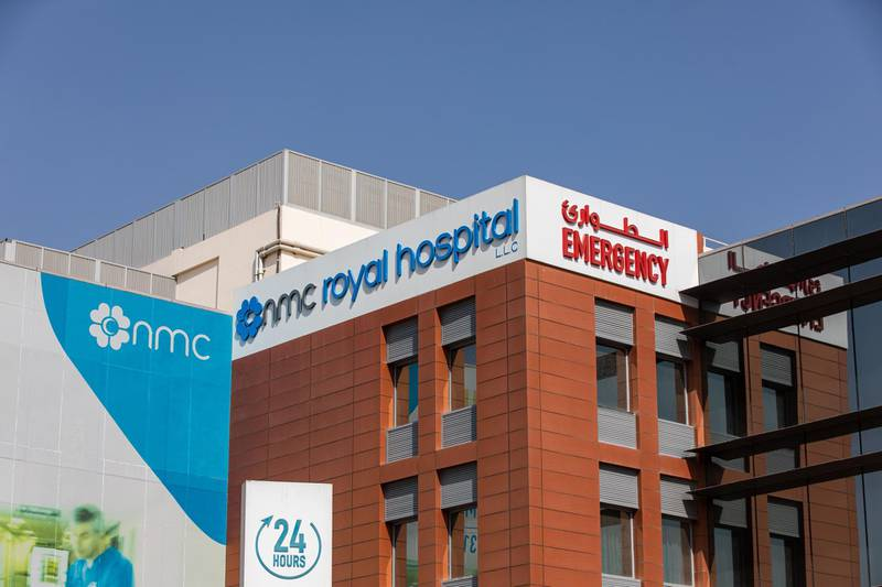 An emergency department sign sits on display outside the NMC Royal Hospital, operated by NMC Health Plc, in Abu Dhabi, United Arab Emirates, on Sunday, March 1, 2020. TroubledNMCHealth Plc, the largest private health-care provider in the United Arab Emirates, asked lenders for an informal standstill on its debt as Abu Dhabi weighs an injection of capital to safeguard the emirate's reputation among global investors. Photographer: Christopher Pike/Bloomberg