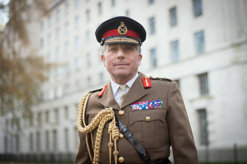 Chief of Defence Staff General Sir Nick Carter outside the MOD headquarters in Westminster, London, following the release of the defence spending review. (Photo by Stefan Rousseau/PA Images via Getty Images)