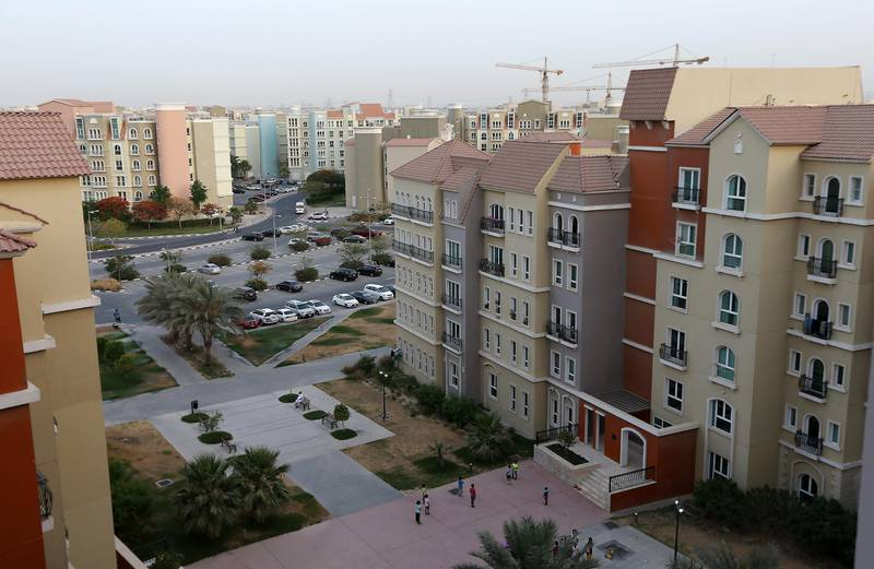 DUBAI , UNITED ARAB EMIRATES Ð May 17 , 2015 : View of the residential apartments in Discovery Gardens area developed by Nakheel in Dubai. ( Pawan Singh / The National ) For Business Stock *** Local Caption ***  PS1705- DISCOVERY GARDENS04.jpg
