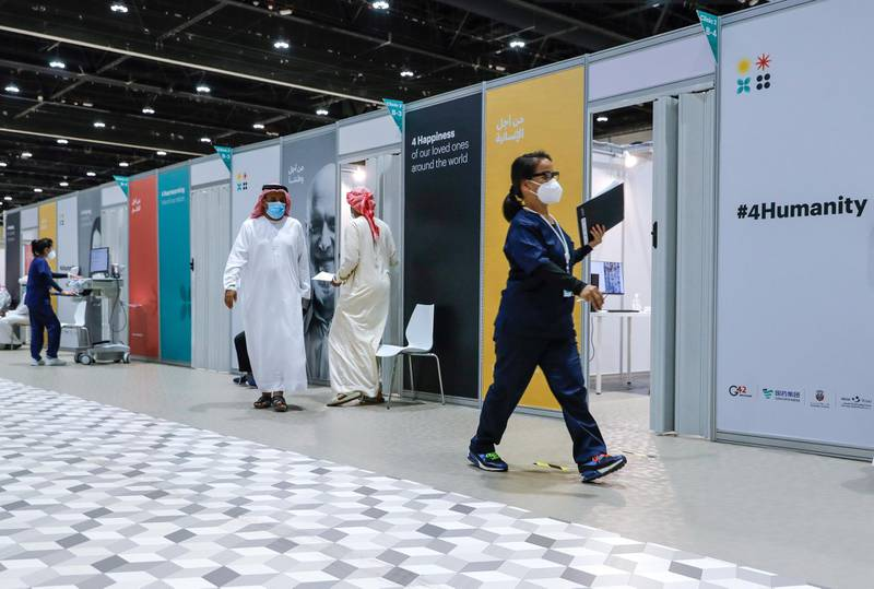 Abu Dhabi, United Arab Emirates, August 6, 2020.  A busy day at the ADNEC volunteer facility. Victor Besa /The NationalSection: NAReporter:  Shireena Al Nowais