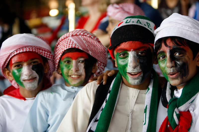 ABU DHABI. 12th November. 2009. UAE V MANCHESTER CITY.  Fans at Zayed Sports City last night (thurs)  Stephen Lock   /   The National   *** Local Caption ***  SL-city-002.jpg