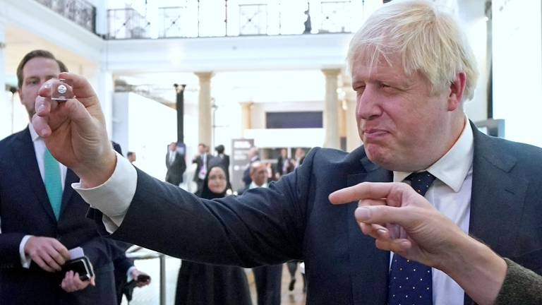 An image that illustrates this article Boris Johnson is biting the business hand that has always fed him