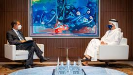 Sheikh Abdullah bin Zayed meets Irena director general