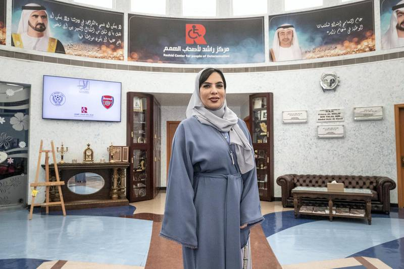 DUBAI, UNITED ARAB EMIRATES. 25 FEBRUARY 2019. Portrait of a Nation, Mariam Othman, Emirati, founder of Rashid Center for People with Determination. (Photo: Antonie Robertson/The National) Journalist: Liza Ayach. Section: National.