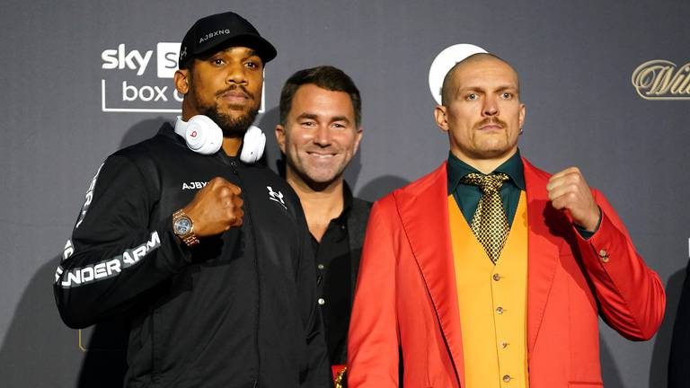 An image that illustrates this article Hearn looks ahead to a successful future with Joshua - starting against Usyk
