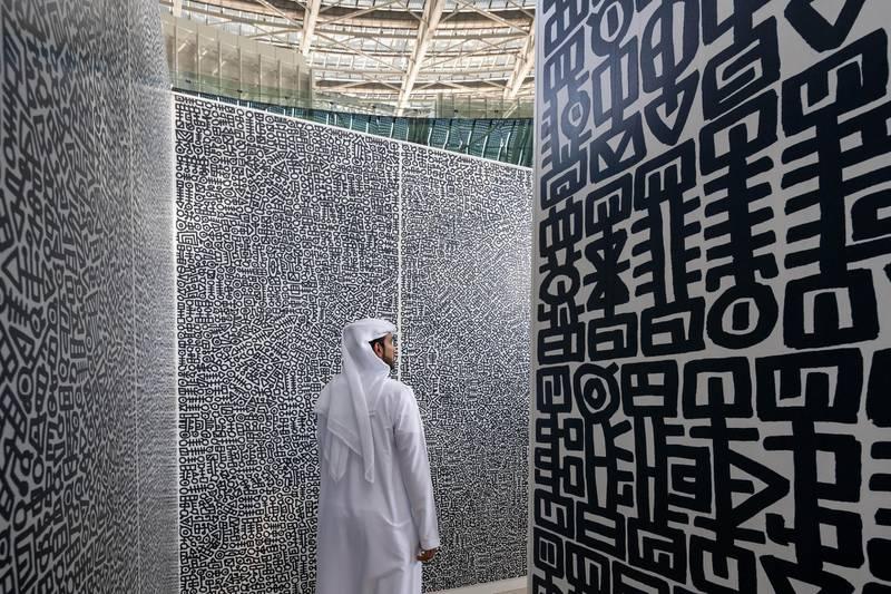 DUBAI, MARCH 11 2021: General view of  Hugs art installation at Terra - The Sustainability Pavilion as part of Expo 2020 Dubai. (Photo by Dany Eid/Expo 2020 Dubai)