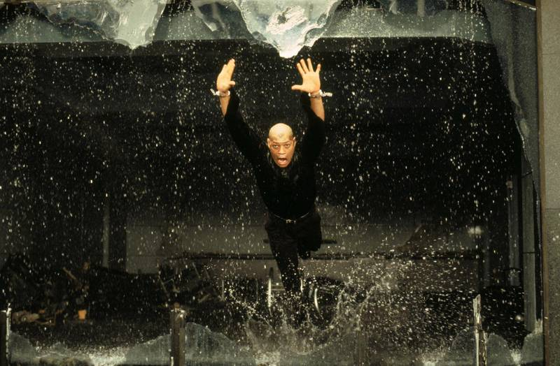 Laurence Fishburne in The Matrix. Courtesy Warner Bros.