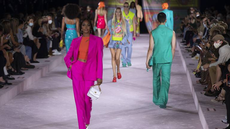 An image that illustrates this article Versace's spring/summer 2022 show at Milan Fashion Week - in pictures