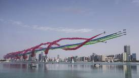UAE Air Force arobatic team shows its colours at the Red Bull Air Race - in pictures