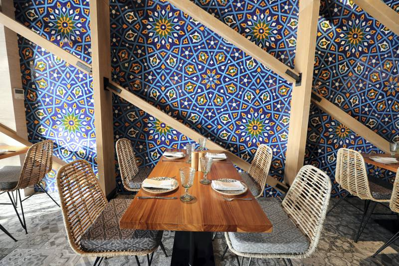 Dubai, United Arab Emirates - Reporter: Sophie Prideaux. Lifestyle. Food. Restaurant feature. Eat your way around The Pointe, The Palm. Zor. Monday, January 18th, 2021. Dubai. Chris Whiteoak / The National