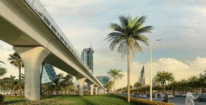 Rendering of the planned Bahrain metro. Courtesy
