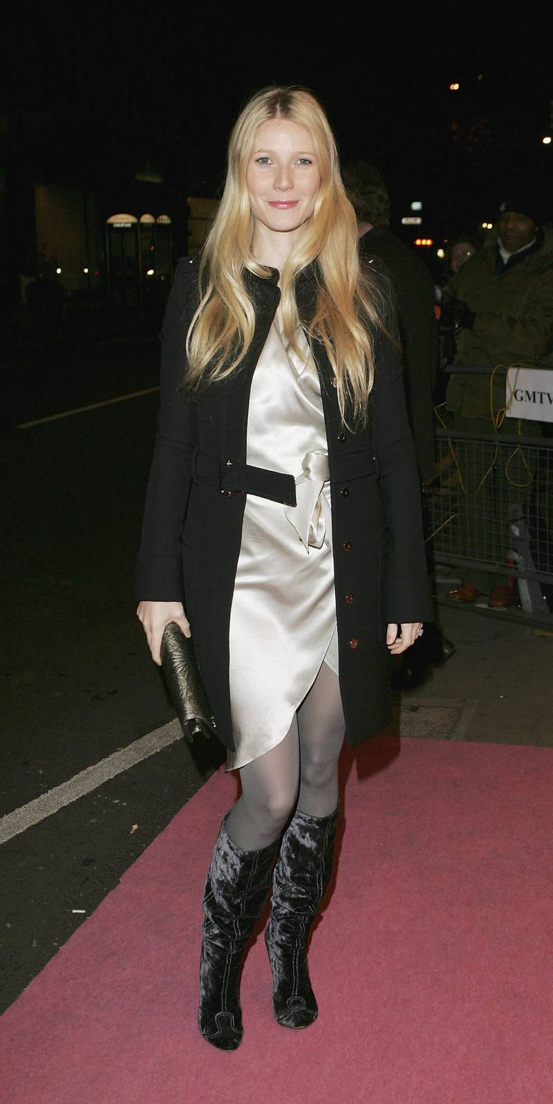 """LONDON - NOVEMBER 29:  Gwyneth Paltrow arrives at the UK TV documentary premiere of Madonna's new confessional Channel 4 documentary """"I'm Going To Tell You A Secret"""" at the Chelsea Cinema on November 29, 2005 in London, England. The programme. Transmitting on December 1, is the first Madonna confessional since 1991's controversial Madonna: Truth Or Dare documentary, profiling the Blonde Ambition tour.  (Photo by MJ Kim/Getty Images)"""