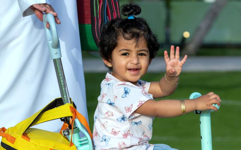 Abu Dhabi, United Arab Emirates, March 15, 2021.  Emirati Children's Day at Umm Al Emarat Park.Victor Besa/The NationalSection:  NAFOR:  Stand Alone/ Big Picture