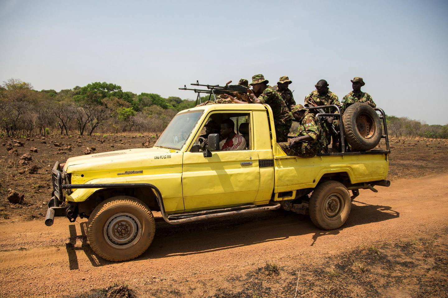 """Rangers head back to base from the shooting range. In the words of Stefan Maritz, a South African and Chinko's acting assistant law enforcement manager: """"Our mission is to fight the wrong. In Chinko, there is authority. There are consequences...Once accountability falls away, nothing works anymore."""""""