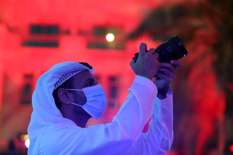 Dubai, United Arab Emirates - Reporter: Sarwat Nasir. News. Mars Mission. An event at Burj Park to celebrate the Hope probe going into orbit around Mars. Tuesday, February 9th, 2021. Dubai. Chris Whiteoak / The National