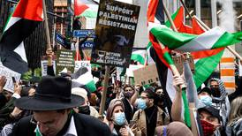 Palestinians protest in US after violence escalates in Israel and Gaza