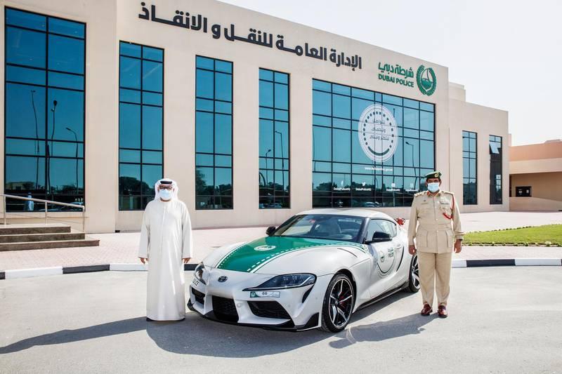 Dubai Police have recently acquired a Toyota Supra to add to their supercar fleet. Photo: Dubai Police