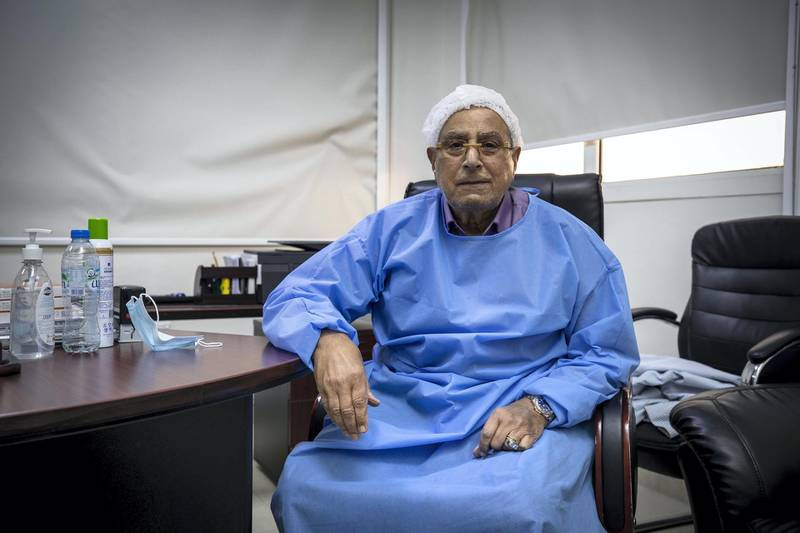 AJMAN, UNITED ARAB EMIRATES. 29 JUNE 2020. Dr Waguih Elsissi. An Orthopaedic surgeon at the Ajman Speciality Hospital ithat is n his 70s survived COVID-19 and speaks to The National about his experience. (Photo: Antonie Robertson/The National) Journalist: Salam Alamir. Section: National.
