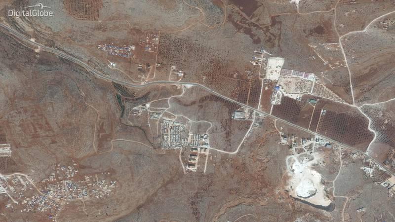 Idlib Displacement Camp B. This image was taken on 27/09/2017. Courtesy Digital Globe