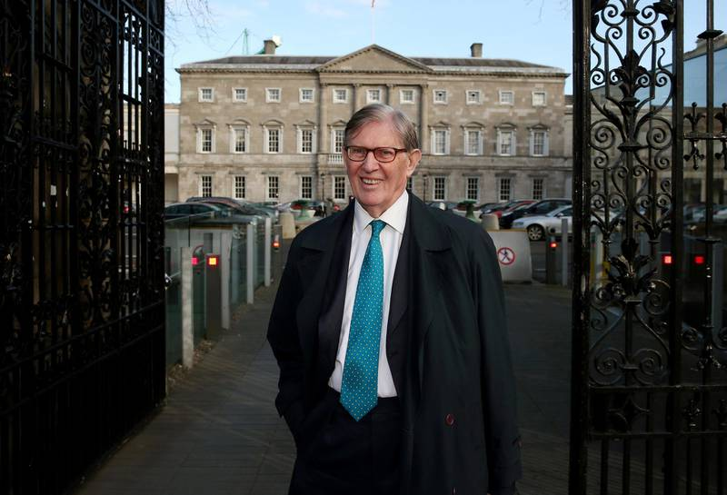 Sir Bill Cash MP leaving Leinster House, Dublin, after speaking at a parliamentary EU Affairs Committee about possible Brexit.