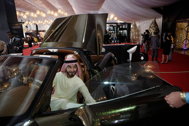 Dr. January 31, 2013 (Dubai) Ahmed al Shareifa sit in a Soleil displayed at the Big Boy Toys 2013 in Dubai January 31, 2013 (Sammy Dallal / The National)