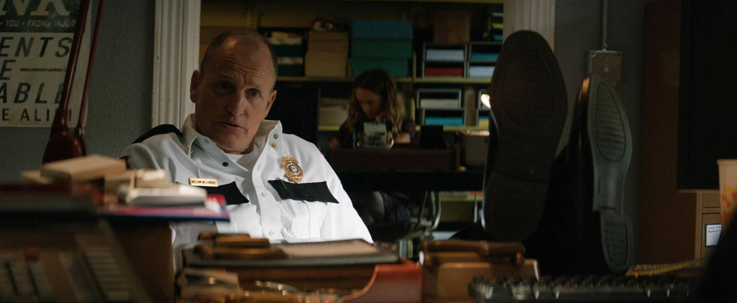 Woody Harrelson in the film Three Billboards Outside Ebbing, Missouri. Courtesy of Fox Searchlight Pictures