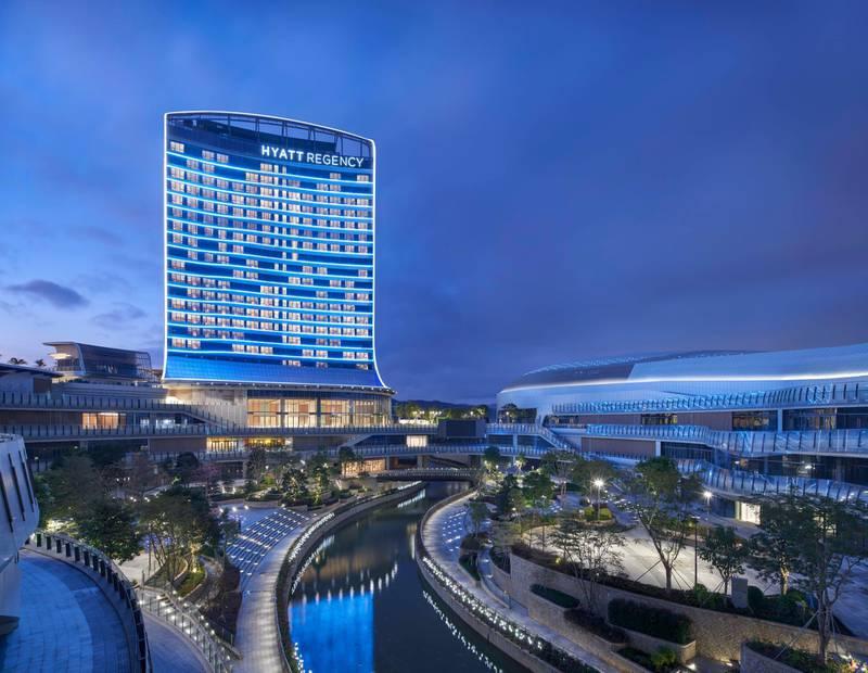 Hyatt Regency Hengqin in Zhuhai, Guangdong Province, China. Courtesy Hyatt Hotels Corporation