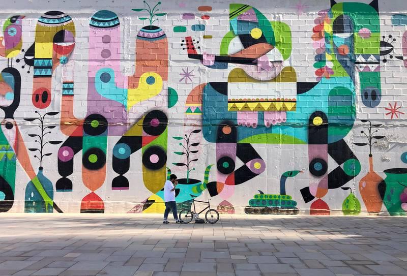 Dubai, United Arab Emirates - Reporter: N/A: Photo project. Street art and graffiti from around the UAE. Monday, January 27th, 2020. JLT, Dubai. Chris Whiteoak / The National